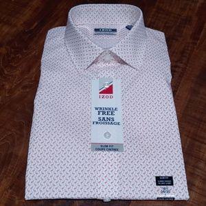 IZOD Flamingo pattern button down shirt!